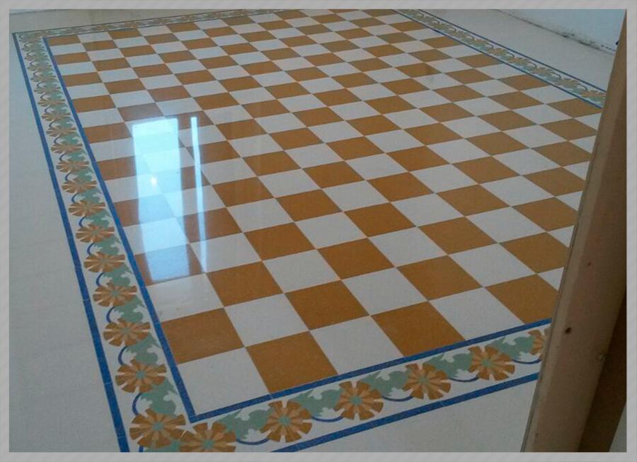 Lucidatura graniglia di marmo c f pavimenti