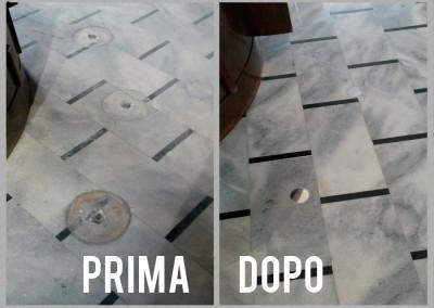 Restauro marmo di Candoglia | C.F. Pavimenti