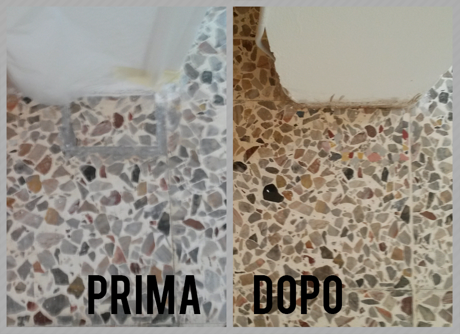 Restauro e lucidatura graniglie di marmo